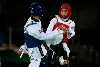 گزارش تصویری تابناک از مبارزه المپیکی کیمیاعلیزاده