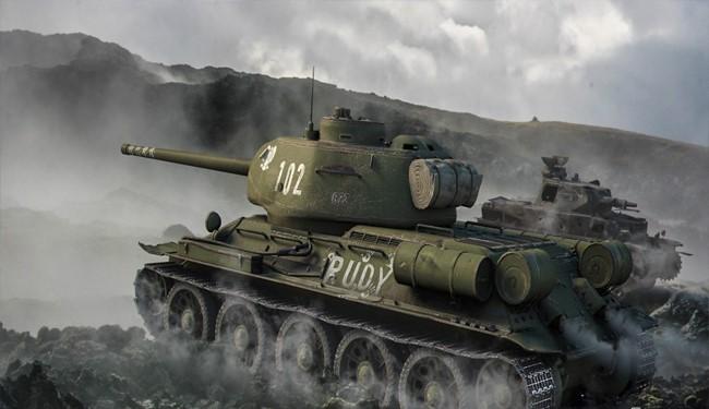 تانک افسانه ای روسیه در سوریه آفتابی شد!