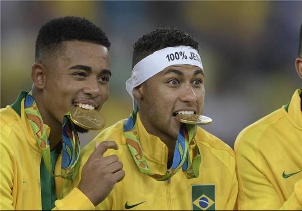 طلای المپیک زیر دندان نیمار!