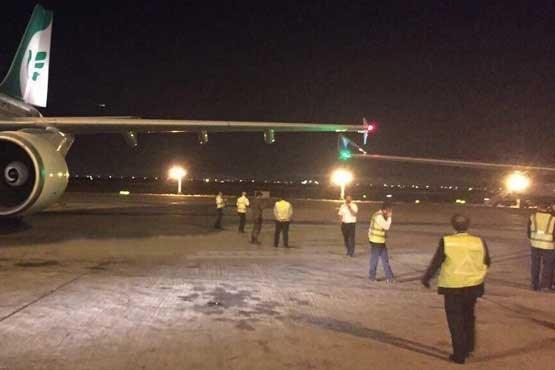 تصادف دو هواپیما در فرودگاه بینالملی امام
