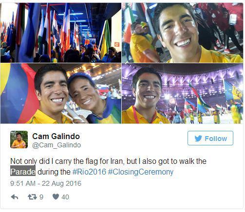 شهروند کانادایی که پرچم ایران را در استادیوم «ماراکانا» در دست داشت