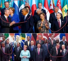 دو ویدیوی دیدنی از تغییر رفتار سیاسی اردوغان در یک مراسم مقابل اوباما و پوتین / ویدیوی موضعگیری اصغر فرهادی درباره سانسور «فروشنده» و حملات به او