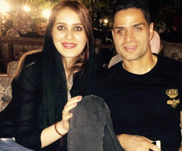 ستاره پرسپولیس در کنار همسرش+عکس