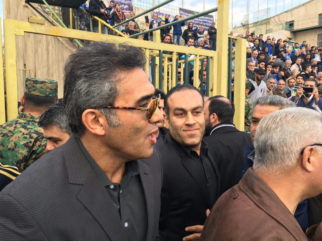 آخرین وداع فوتبالی ها و مردم با پدراستقلال درشیرودی+تصاویر
