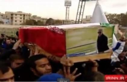 مراسم تشییع پیکر مرحوم پورحیدری در شیرودی