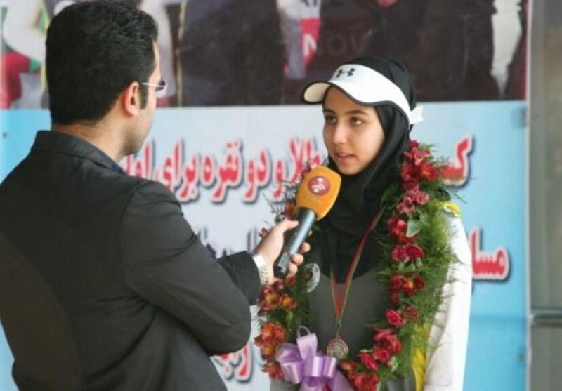 بانوی طلایی ایران مدالش را به سردار قاسم سلیمانی اهدا کرد