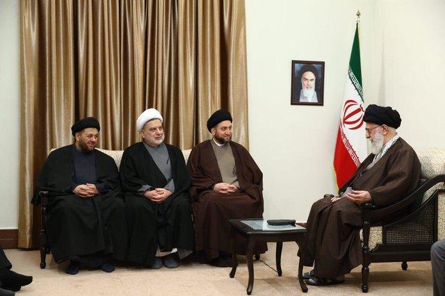 دیدار رئیس مجلس اعلای اسلامی عراق با رهبرانقلاب