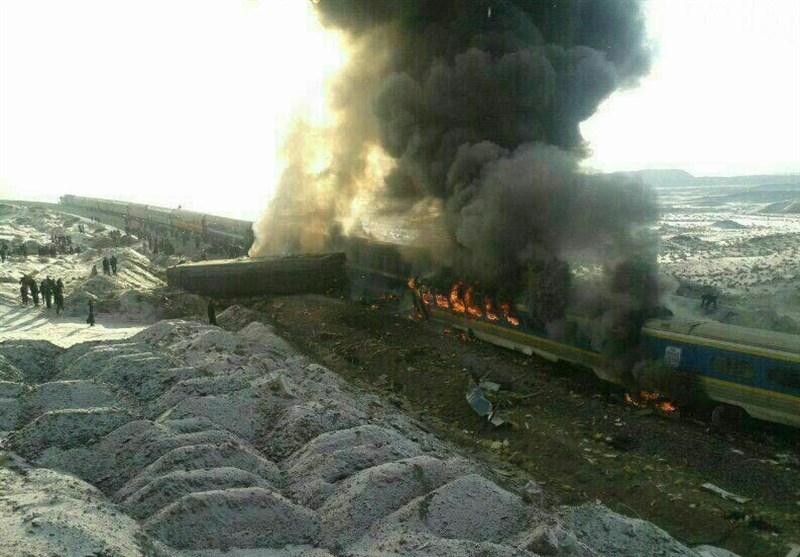 جرئیات حادثه قطار سمنان و آمار قربانیان