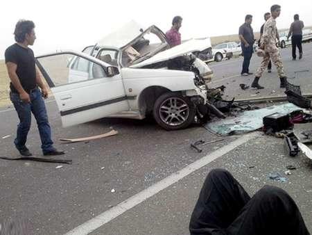 تصادف در جاده هرمزگان دوکشته برجای گذاشت