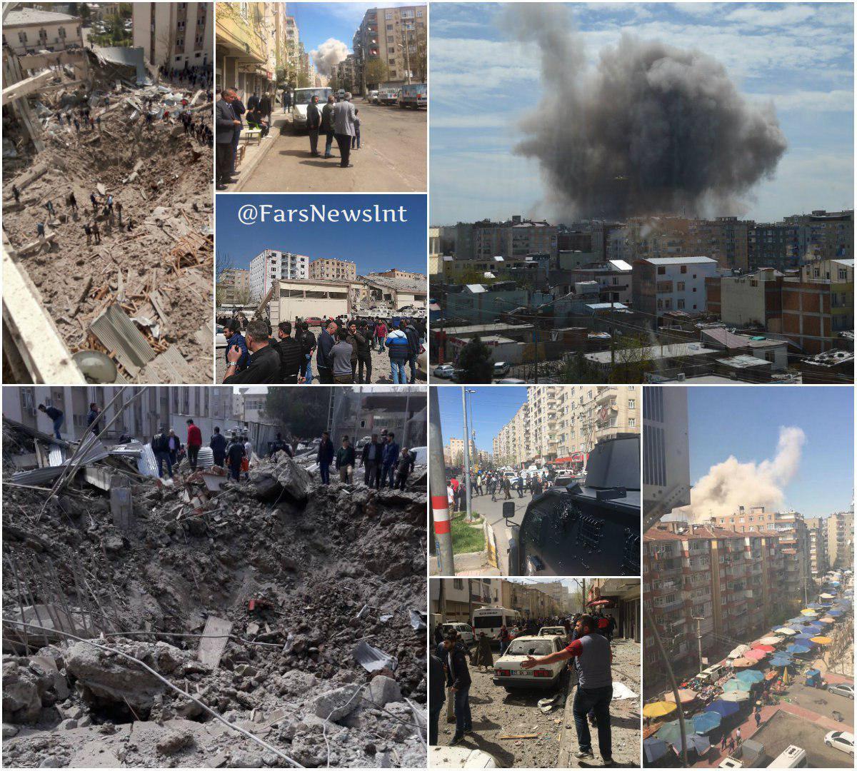 تصاویری از انفجار در دیاربکر ترکیه