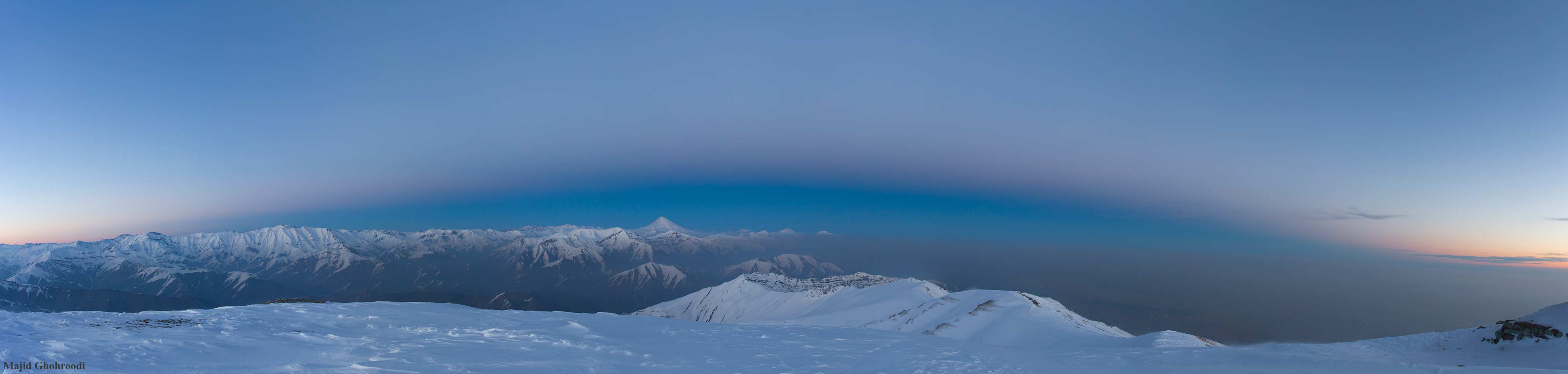عکس پانارومای خارقالعاده ناسا از فراز توچال