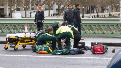 تصاویر حمله تروریستی در وست منیستر لندن