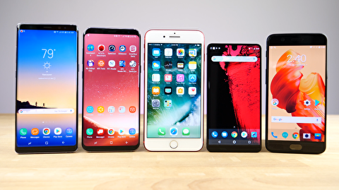 پنج گوشی برتر هوشمند بازار