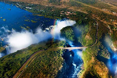 آبشار ویکتوریا با کیفیت 4K