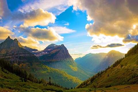 گردش در پارک ملی گلیشر با کیفیت 4K