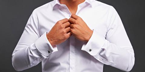 پوشیدن پیراهن با سر دست فرانسوی