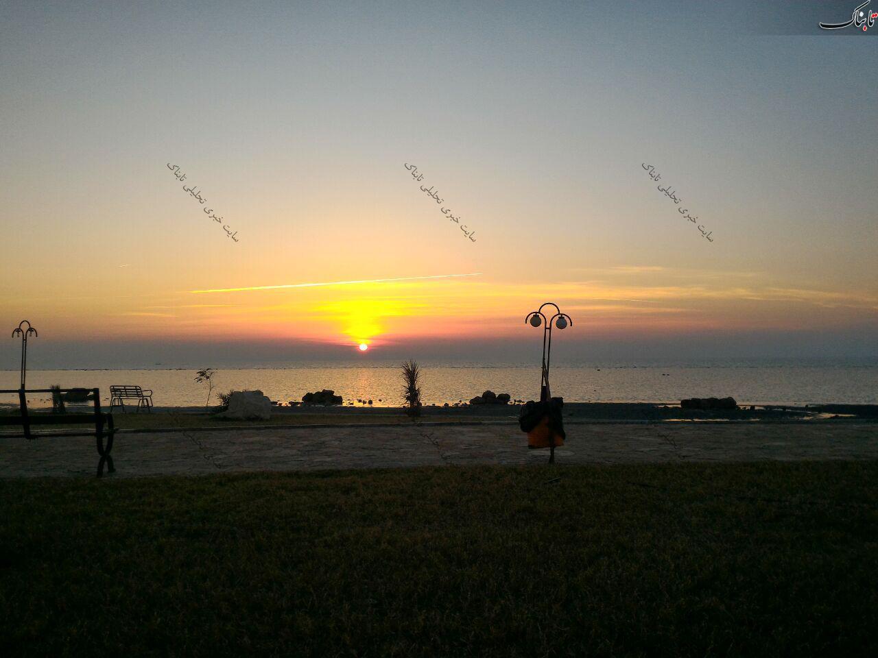 غروب جمعه در ساحل بوشهر
