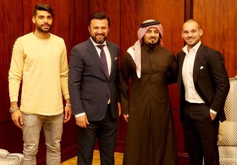 کم محلی قطری ها به طارمی در جشن معارفه وسلی اشنایدر+عکس
