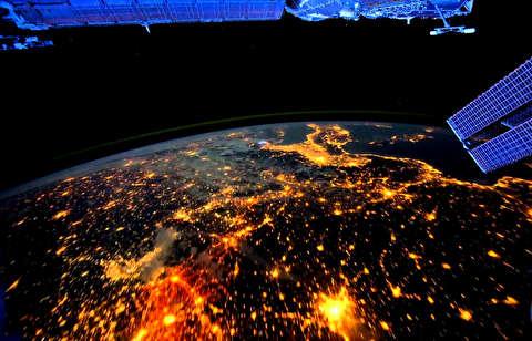 زمین از منظر ایستگاه بین المللی فضایی