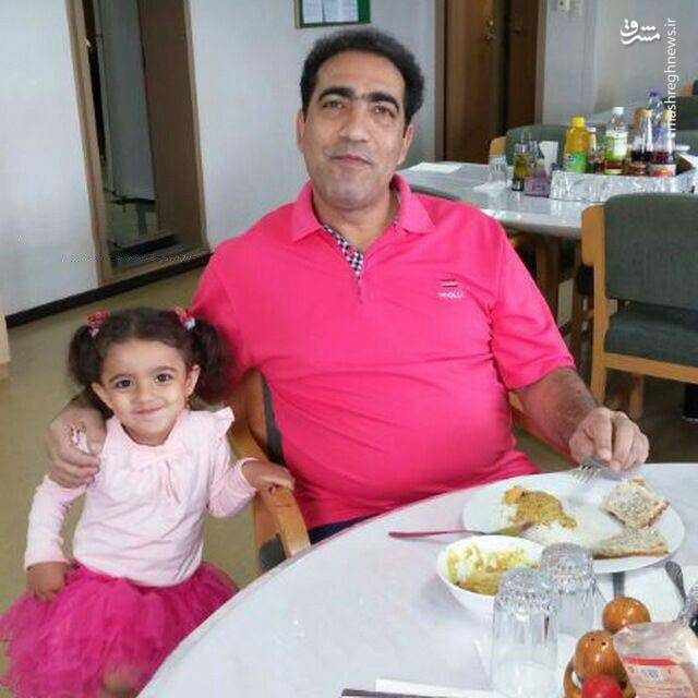 آخرین عکس کاپیتان سانچی در کنار دخترش