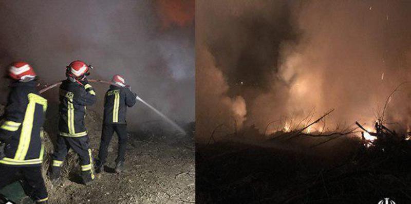 آتش سوزی در ورودی شهرک پردیسان قم مهار شد