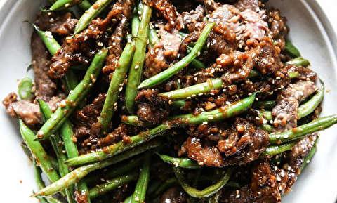 طرز تهیه گوشت گوساله با کنجد و زنجبیل