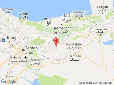 زلزله 4 ریشتری فیروزکوه را لرزاند