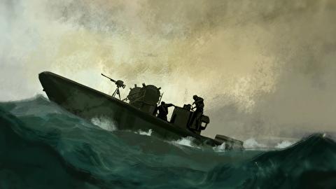 درگیری رزمندگان ایران با هلیکوپتر آمریکا