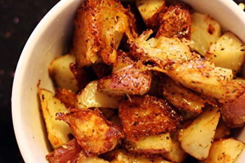 دستور پخت سیب زمینی کبابی با پارمزان