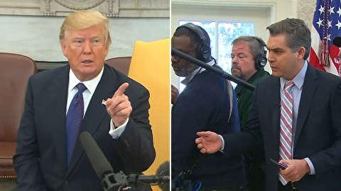 ترامپ خبرنگار سیانان را بیرون کرد