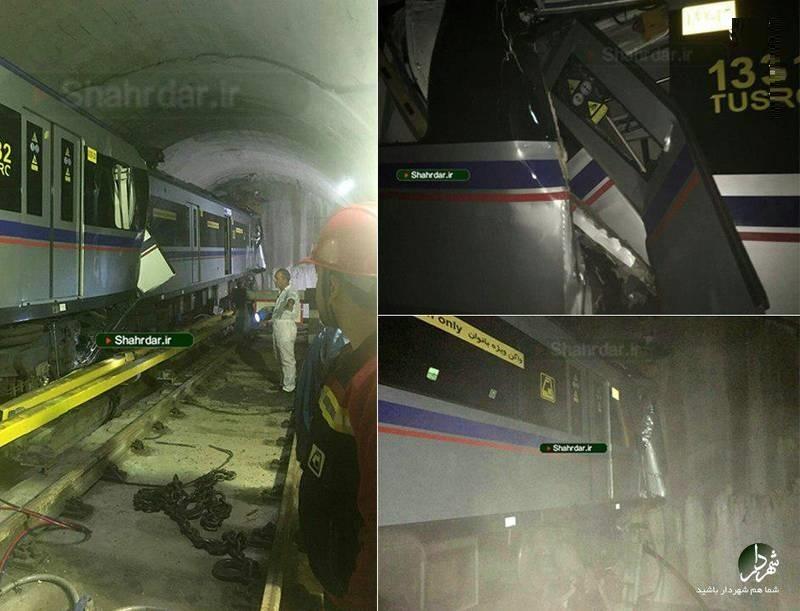 تصادف در خط ۳ مترو تهران