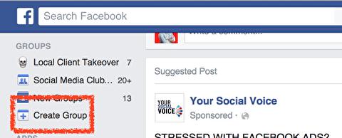 نحوه ایجاد یک گروه در فیسبوک