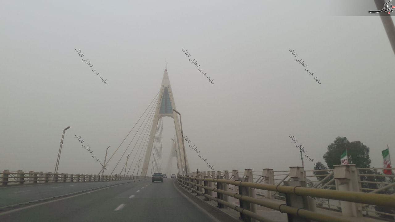 گرد و غبار در شهر اهواز