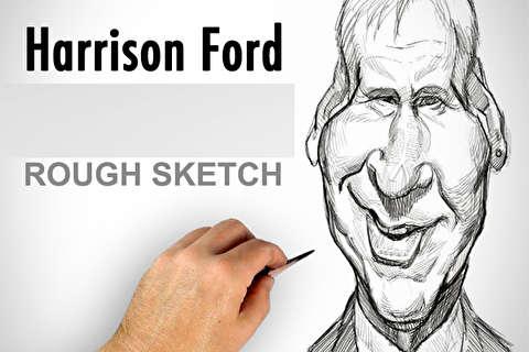 آموزش طراحی کاریکاتور هریسون فورد