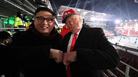 قدم زدن اون و ترامپ در خیابانهای سئول