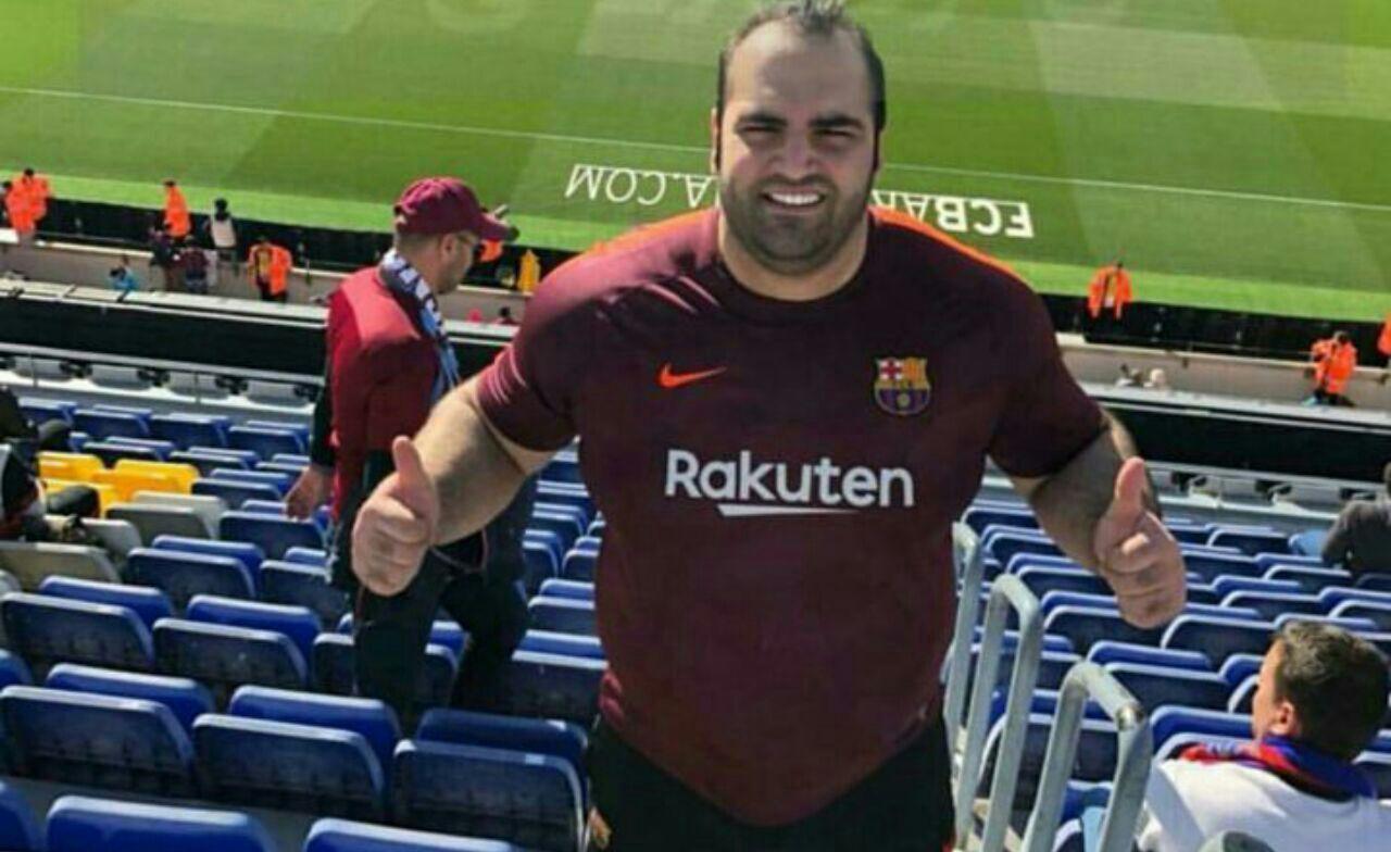 بهدادسلیمی تماشاگر بازی ضعیف بارسلونا درنوکمپ