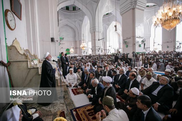 استقبال مردم حیدر آباد هند از سخنان روحانی