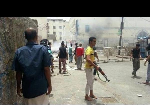 حمله افرادمسلح به کاخ معاشیق در عدن