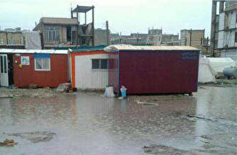 چادر زلزلهزدگان خیس آب شد!