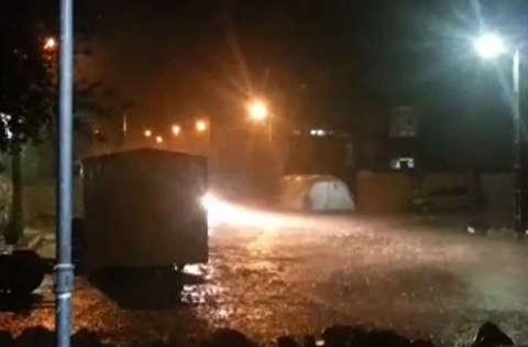 بارندگی شدید در شهر زلزله زده سرپل ذهاب