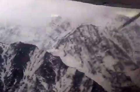 ارتفاع پایین هواپیمای ای تی آر در دنا