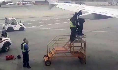 تعمیر غیرمعمول هواپیمای زاگرس