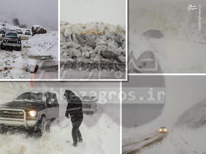 گرفتار شدن امدادگران در برف و کولاک
