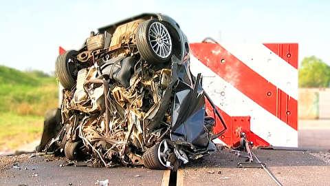 تصادف عظیم 193 کیلومتر بر ساعتی