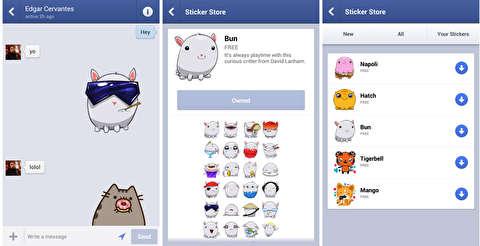 روش استفاده از استیکرها در فیسبوک