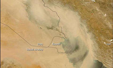 تصاویر ناسا از ورود گردوغبار به ایران