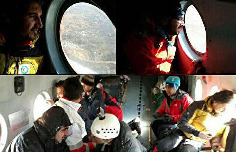 جستجوی هوایی امدادگران بر فراز دنا