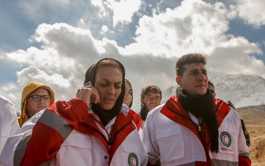 حضورخواهران منصوریان درتیم نجات سانحه هوایی+عكس
