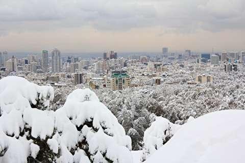 حال و هوای تماشایی تهران در روز برفی