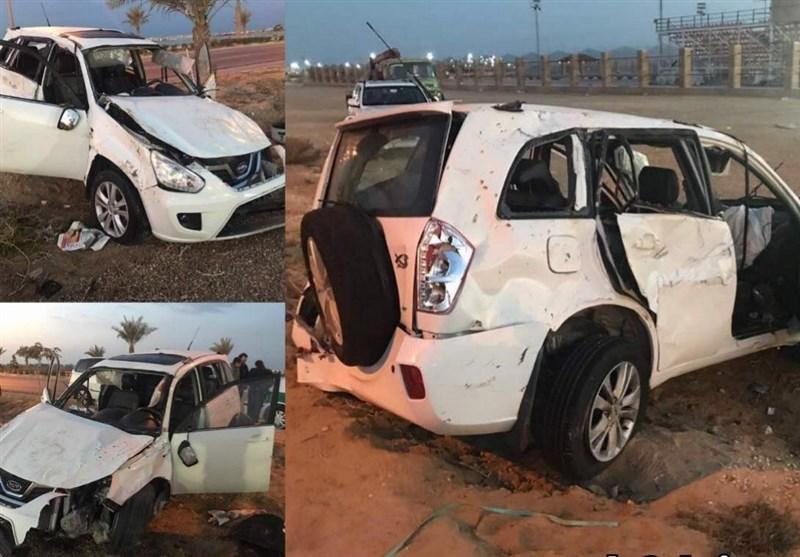 خونریزی داخلی قائدی بعد از تصادف در جاده بوشهر+عکس